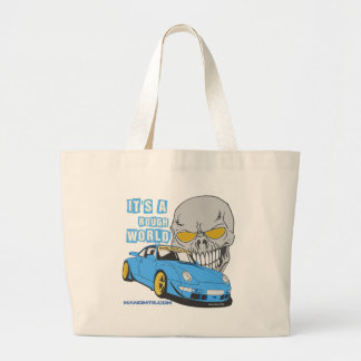 It's a rough world large tote bag