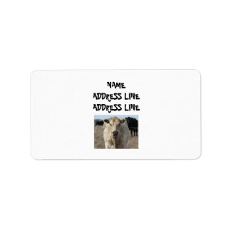 It's a Roundup! Cattle - Western Address Label
