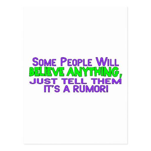 It's A Rumor Postcards