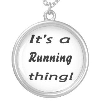 It's a running thing! round pendant necklace