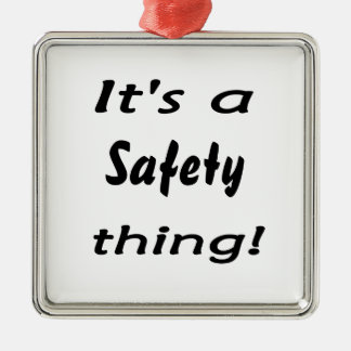It's a safety thing! Silver-Colored square decoration