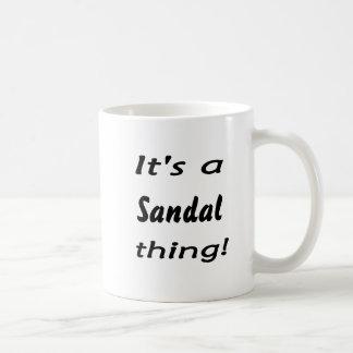 it's a sandal thing! classic white coffee mug