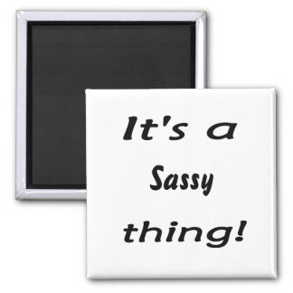 It's a sassy thing! square magnet