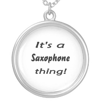 It's a saxophone thing! silver plated necklace