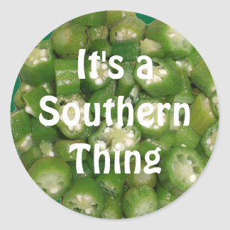 """""""It's a Southern Thing"""" Okra Stickers"""