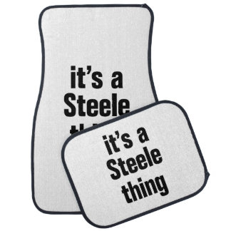its a steele thing floor mat