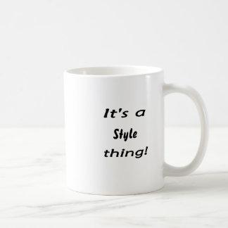 It's a style thing! mugs