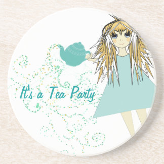 It's a Tea Party Anime Girl Coasters