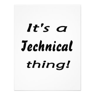 It's a technical thing! custom invitation