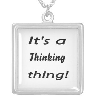 It's a thinking thing! square pendant necklace