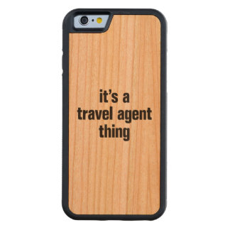 its a travel agent thing carved® cherry iPhone 6 bumper case