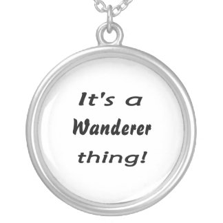 It's a wanderer thing! round pendant necklace