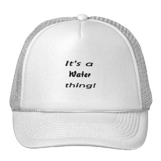 It's a water thing! mesh hats
