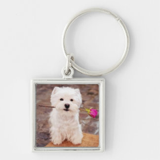 It's A Westie Thing! Silver-Colored Square Key Ring