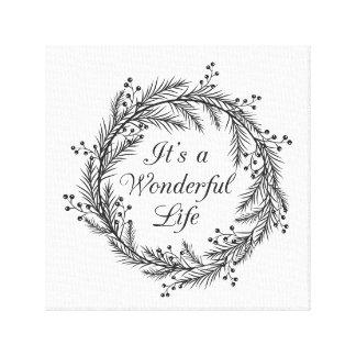 It's a Wonderful Life - Christmas Canvas Art