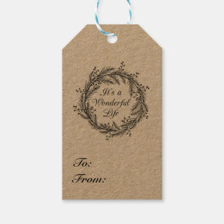 It's a Wonderful Life - Christmas Gift Tag