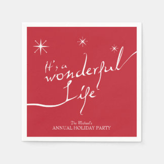 It's a Wonderful Life, Holiday Party Paper Napkin