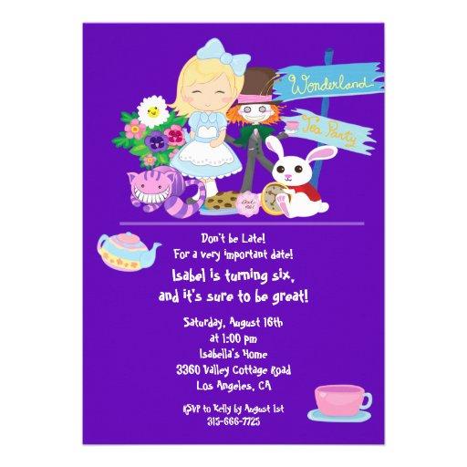 It's a Wonderland Birthday Tea Party Invitation