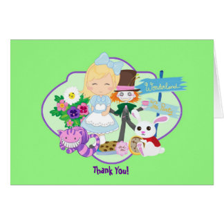 It's a Wonderland Birthday Tea Party Thank You Card