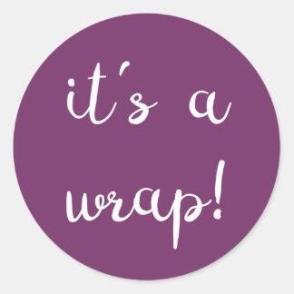 It's a wrap! Purple Sticker