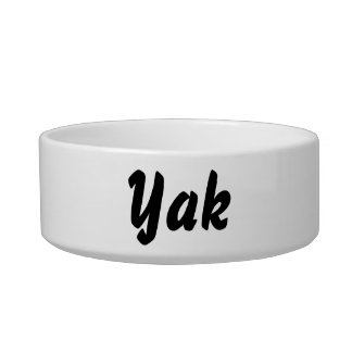 It's a yak thing! pet food bowl