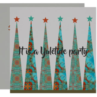 It's A Yuletide Party Card