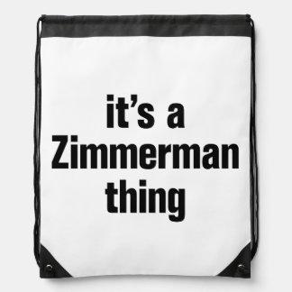 its a zimmerman thing drawstring backpacks