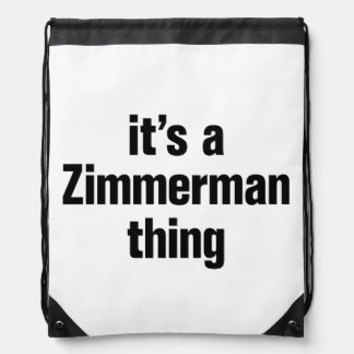 its a zimmerman thing drawstring bag