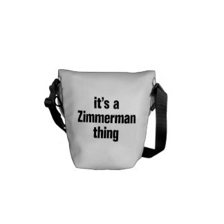 its a zimmerman thing courier bag