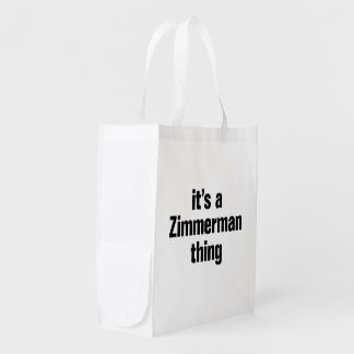 its a zimmerman thing