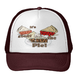 Its About the Pie THANKSGIVING BAKERY HOLIDAY Hat