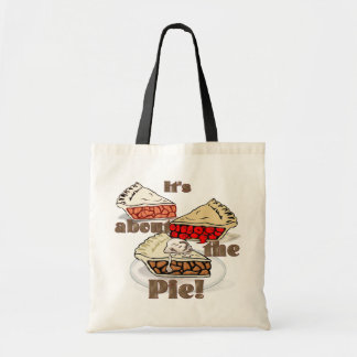 Its About the Pie THANKSGIVING HOLIDAY BAKERY Canvas Bags