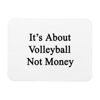 It's About Volleyball Not Money Rectangular Magnet