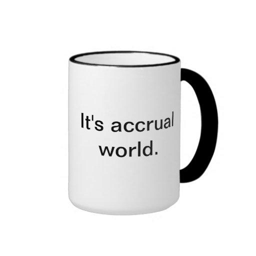 It's accrual world. coffee mugs