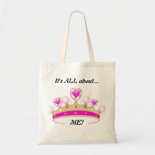 It's All About ME!: Fun Princess Tote Canvas Bags