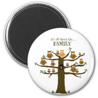 It's All About the Family 6 Cm Round Magnet