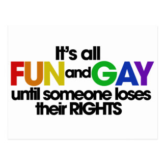 It's all fun and gay rights postcard