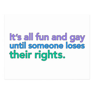 It's all fun and gay until... Postcards