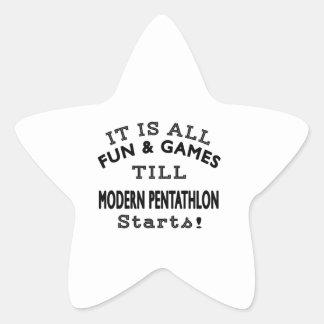 It's All Fun & Games Till Modern Pentathlon Starts Star Stickers