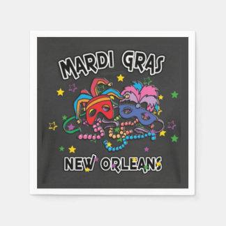 It's All Fun Mardi Gras Party Paper Napkins