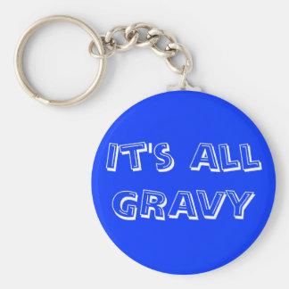 It's All GRAVY Basic Round Button Key Ring