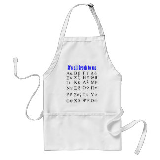 Its all Greek to me apron