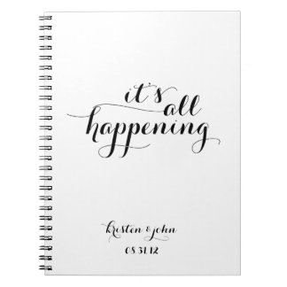 It's All Happening Wedding Planning Journal Notebook