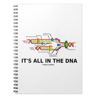 It's All In The DNA Molecular Biology Humor Notebooks
