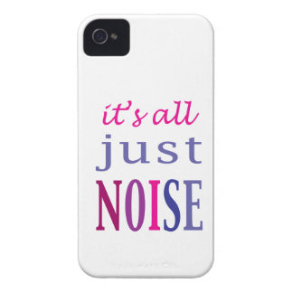 It's All Just Noise Case-Mate iPhone 4 Cases