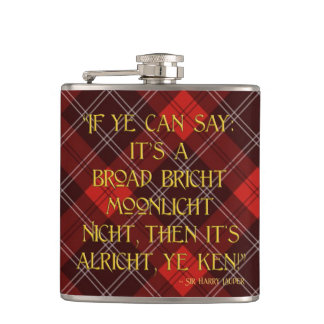 It's Alricht, Ye Ken! - Sir Harry Lauder Hip Flask
