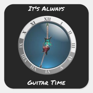It's Always Guitar Time Clock Sticker