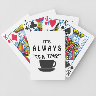 Its Always Tea Time Bicycle Playing Cards