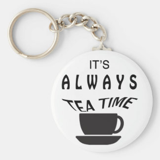 Its Always Tea Time Key Ring