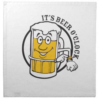 It's always time for Beer- Beer O'clock Napkin
